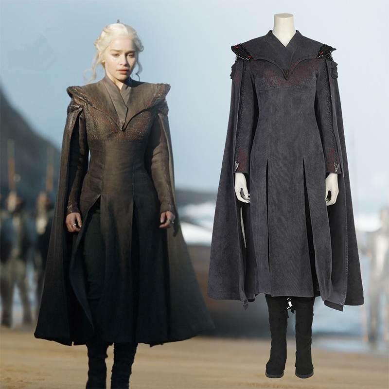 2018 High quality Game of Thrones Season 7 Cosplay Daenerys Targaryen Costume A Song of Ice and Fire Fancy Dress Halloween suits