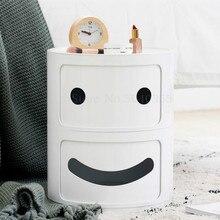 Скандинавская спальня прикроватная тумбочка креативный простой детский прикроватный Круглый Мини-шкаф многофункциональный шкаф для хранения