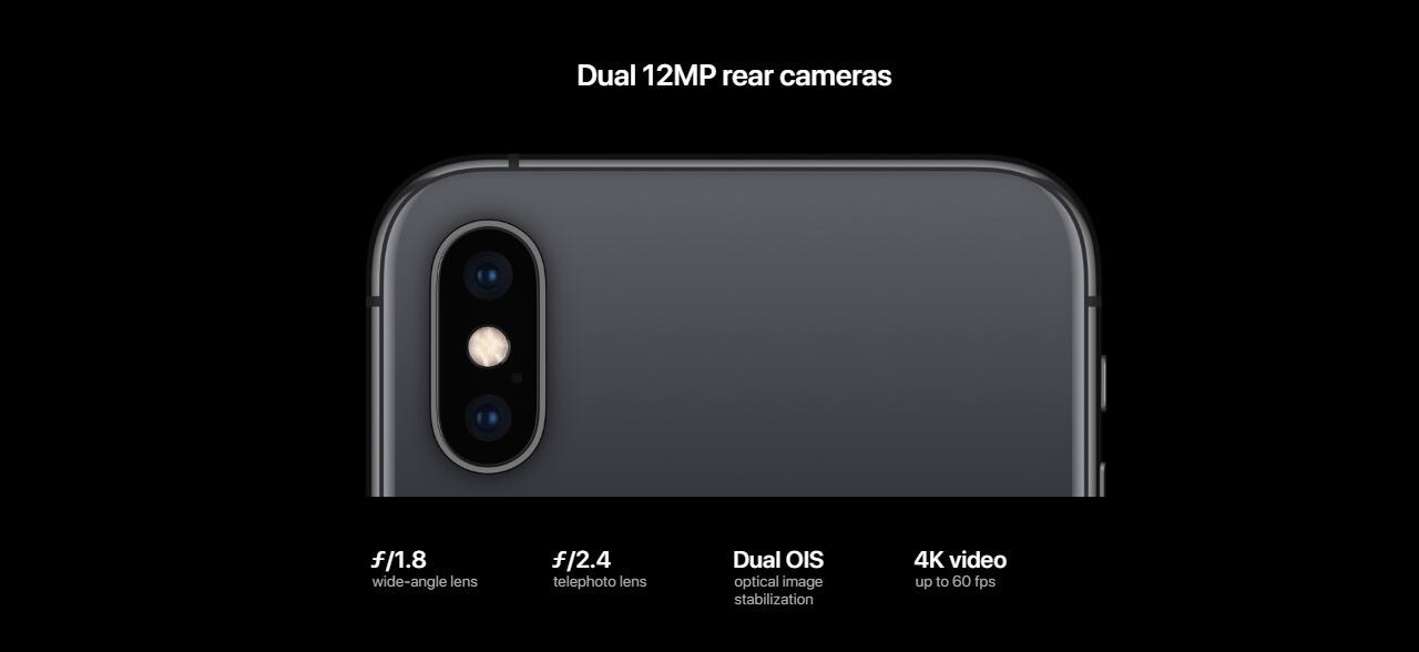 "Image result for Apple iPhone X 64GB 3GB RAM 4G LTE Face ID Dual 12 MP Camera 5.8"" Retina Display Space Grey,Kilimall"
