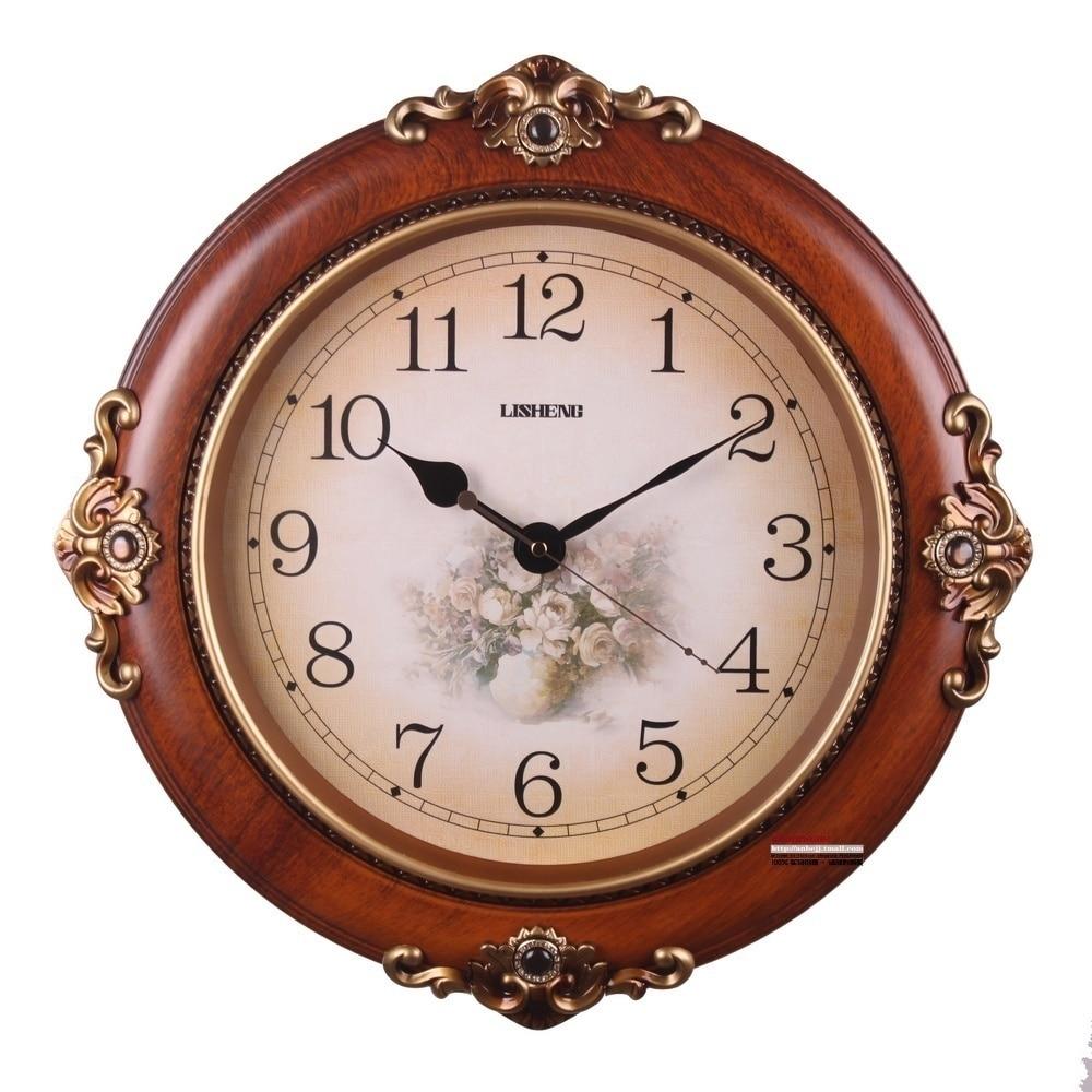 Electronic clock antique Large fashion wall clock quieten ...