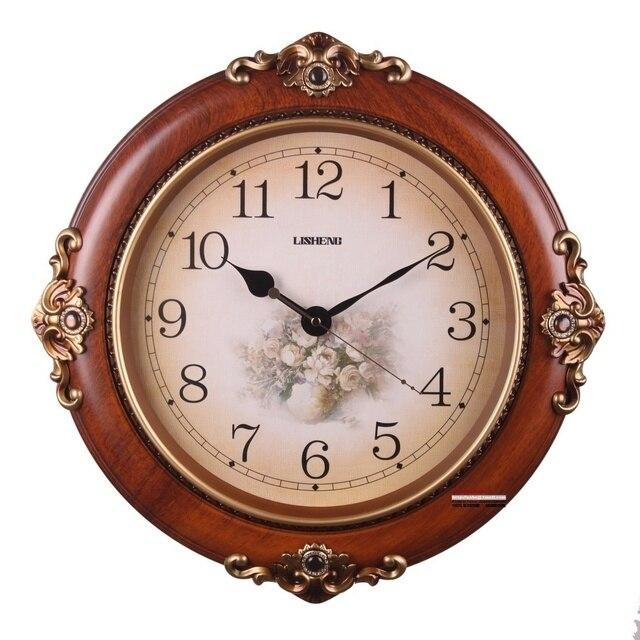 Electronic clock antique Large fashion wall clock quieten rustic decoration quartz clock and watch