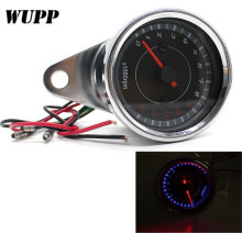 WUPP Adjustable Motorcycle Led Digital Tachometer 13000 Rpm Speedometer Tachometer Odometer Motorcycle Red Counter Tach Gauge цена
