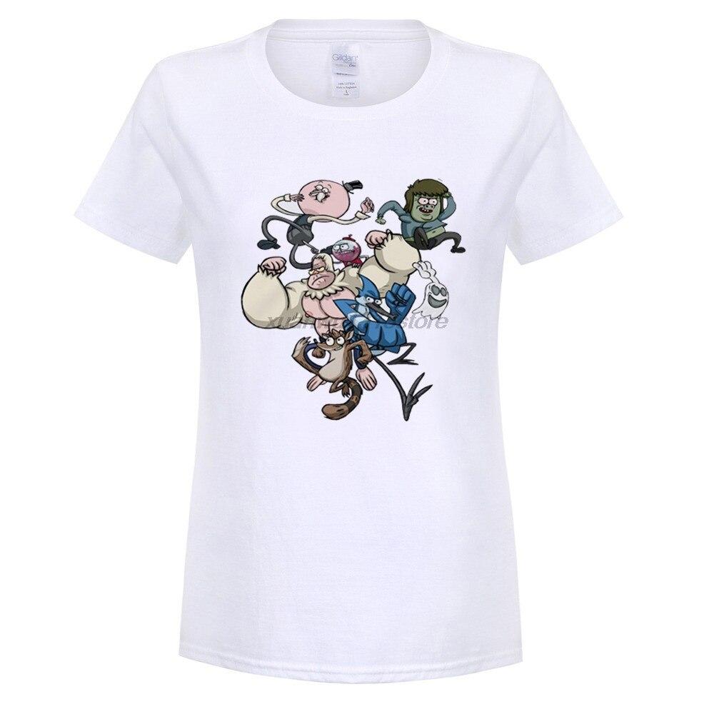 Возьмите регулярно показывают цифровой печати четкий Рисунок женские футболки с коротким рукавом аниме тема Серый Белый футболка