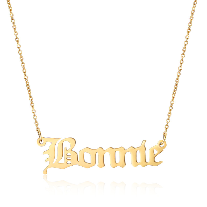 Custom Name Necklace Stainless Steel Nameplated Women Necklace  Braidmaid Gift Gold Rose Gold Bijouterie JewelryCustom Name Necklace Stainless Steel Nameplated Women Necklace  Braidmaid Gift Gold Rose Gold Bijouterie Jewelry