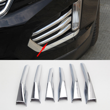 For Cadillac XT5 2016 2017 2018 Accessories New ABS Chrome Front Fog Lamp Light Cover Trim Sticker Car Styling 6pcs