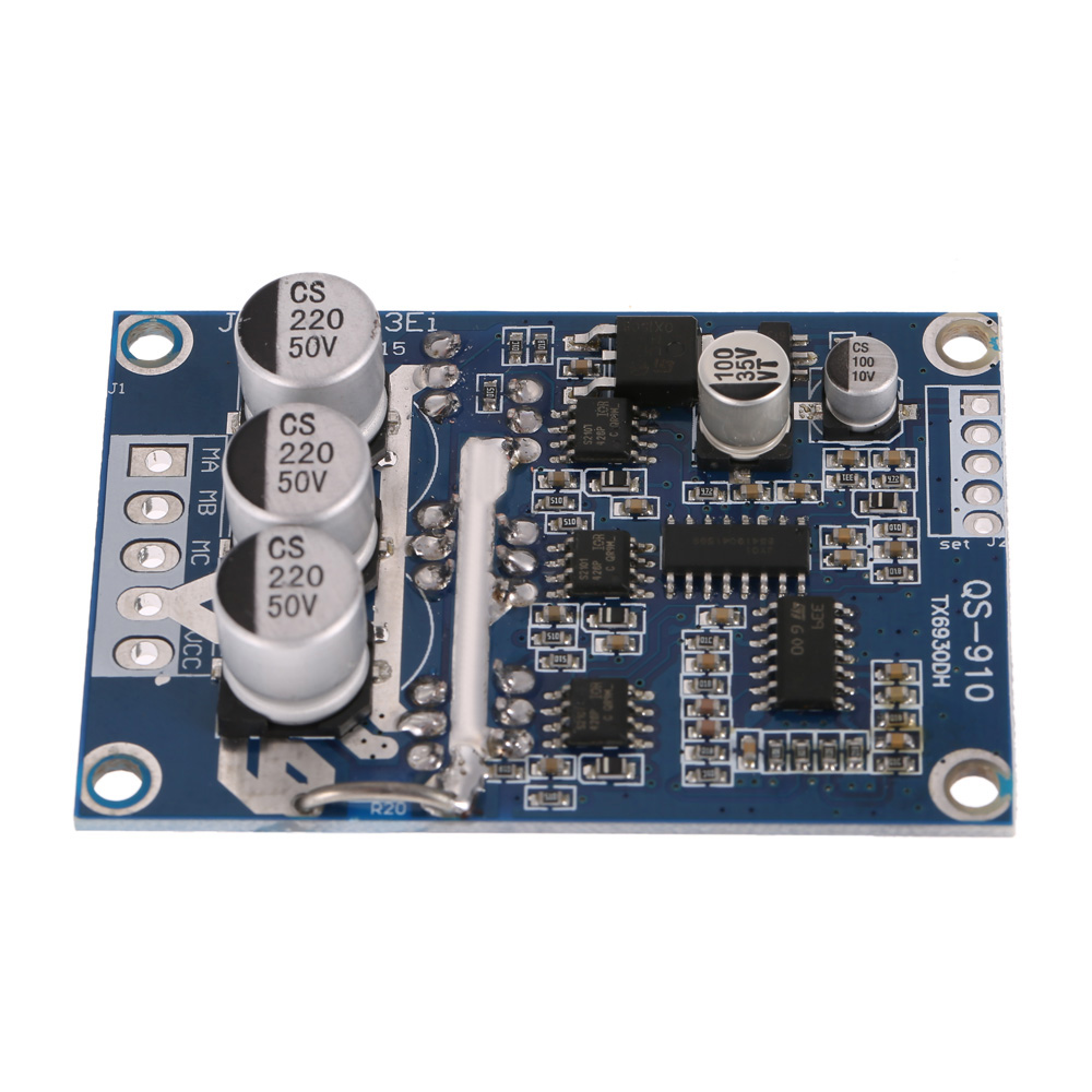 DC 12V-36V 500W Brushless Motor Controller Without Hall PWM Control Balanced Car Robot Driver Board