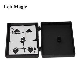 Image 5 - Überraschung Wiederherstellung Box Zaubertricks Schwarz Kunststoff Box Gebrochen Papier Karte Fall Close Up Zaubertricks Requisiten Spielzeug Für kinder
