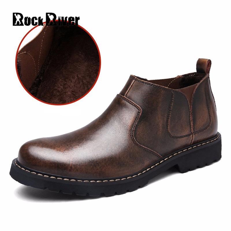 Rock River Brand Genuine Leather Chelsea Boots Men Office Ankle 2018 Fashion Business Casual Shoes Bota Masculina In From On