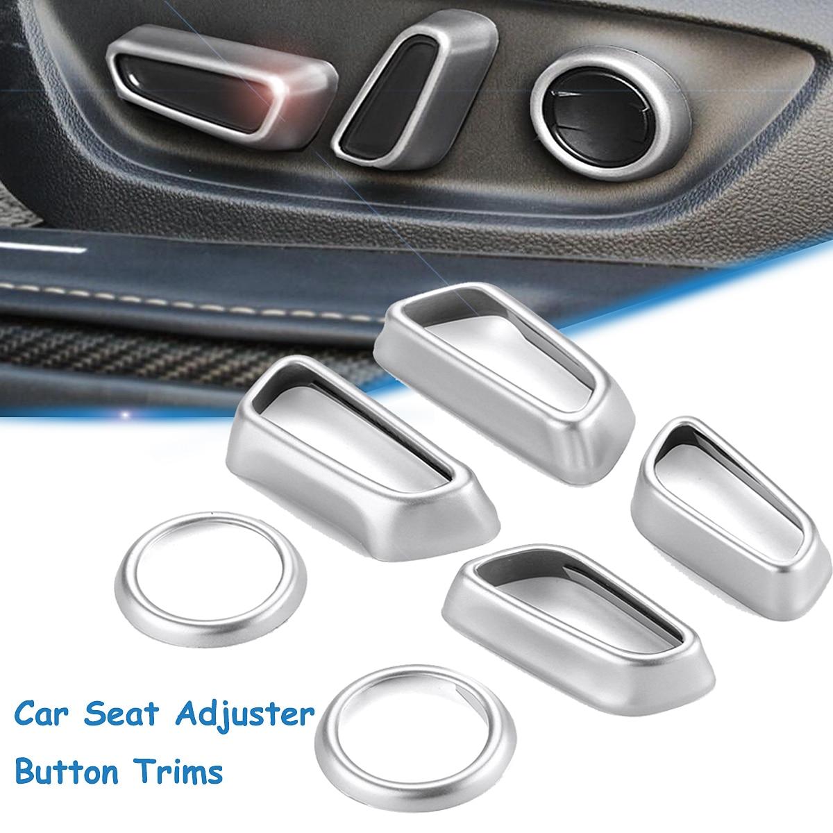 6 шт. переключатель салона автомобиля Обложка отделка Chrome основа украшения для Toyota Camry 2018 2019 стайлинга автомобилей аксессуары