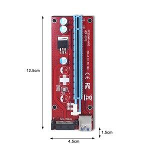 Image 5 - 10pcs TISHRIC VER007S PCI Express PCIE PCI E Riser Card 007 007S 1x to 16x Extender USB3.0 Cable 15pin SATA for BTC Mining Miner