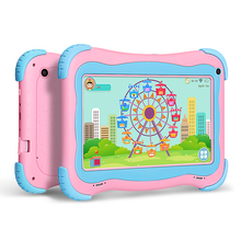 Yuntab 7 inch Q91 tablet Allwinner A33 Quad Core 1GB+16GB Android 4.4 Kids Tablet PC Dual camera Hot 2800mAh battery (pink)