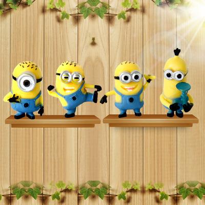 4pcs Set Minion Miniature Action Figures
