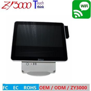 new stock 15 inch pos system all in one touch screen pos have MSR card reader