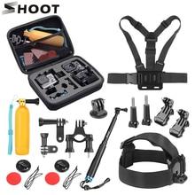 SHOOT مجموعة ملحقات كاميرا الحركة GoPro ، حامل أحادي لـ Go Pro Hero 9 8 7 5 Black Xiaomi Yi 4K SJCAM SJ7 M20 Eken H9