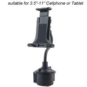 "Image 5 - Universal Gooseneck Adjustable Car Cup Holder Mount Cradle for iphone iPad Samsung Xiaomi Huawei 3.5"" 11"" Cellphone Tablet"