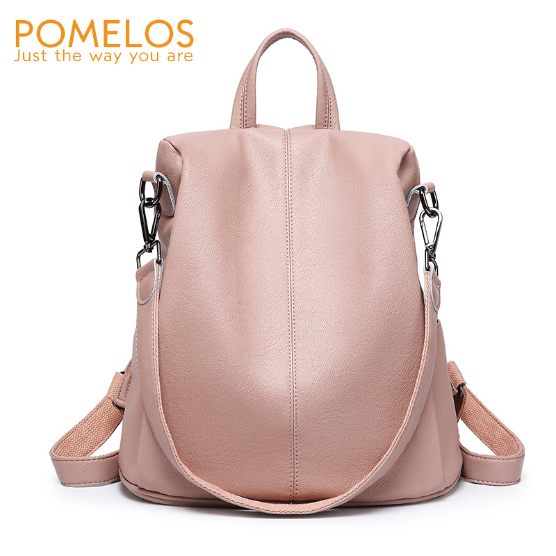 POMELOS Luxury Women Backpack Fashion New Anti Theft Backpack PU Leather Backpack For Women Female School Bags For Teenage Girls