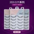 New 3set/lot(15 pairs) high quality natural long false eyelash Japanese style plastic cotton stalk hand made eyelash extension