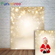 цена на Funnytree glitter backdrops photography sparkling golden christmas Shine bokeh photocall fond studio photo background polyester