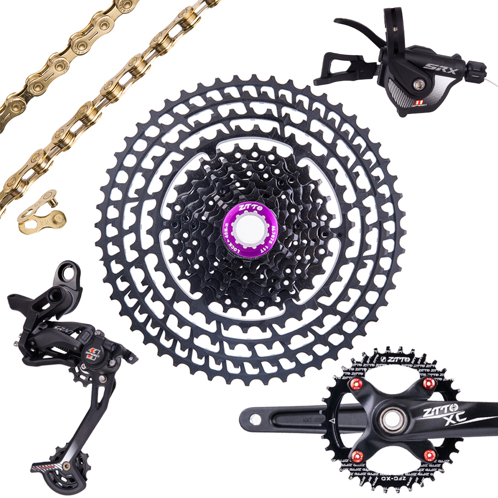 ZTTO SLR2 11 Speed Groupset Derailleur Shifter Crankset Chain 11 52T Cassette 11 50T Ultralight Group