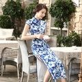 Fashion Trends Chinese Lady Silk Satin Long Cheongsam Qipao Bridesmaid Evening Dress/Qipao Size S M L XL XXL  C0014
