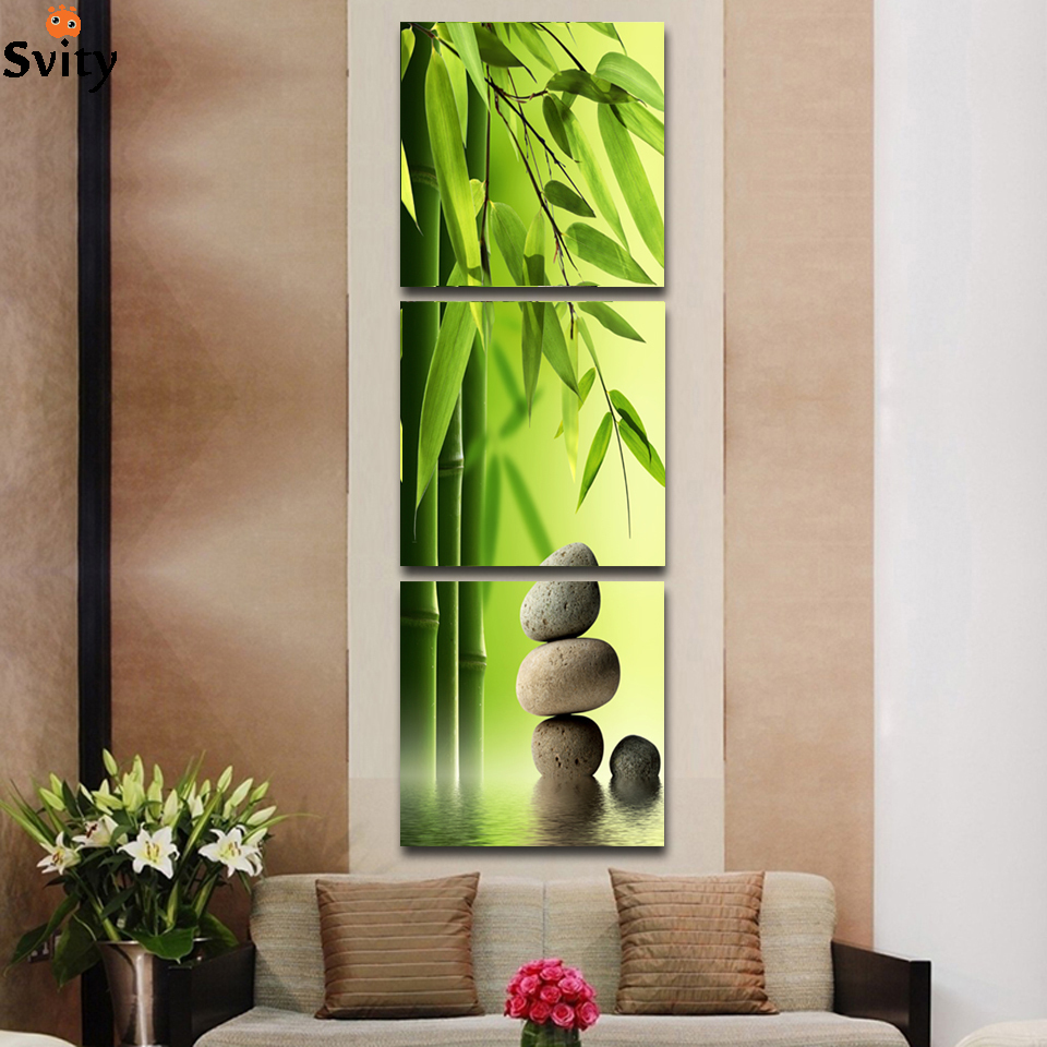 art deco living room pictures furniture cad blocks 3 pcs/set artist canvas still life painting bamboo and ...