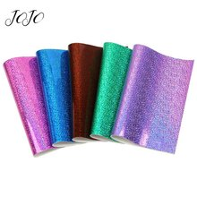 JOJO BOWS 22*30cm 1pc Laser Symphony Faux Synthetic Leather Fabric For