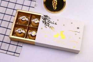 Внутренний размер 22,5*15,1*5 см с дизайном в виде костюма кролика бумажная коробка торта Сыр рождения еды печенья Подарочная упаковка коробки ...