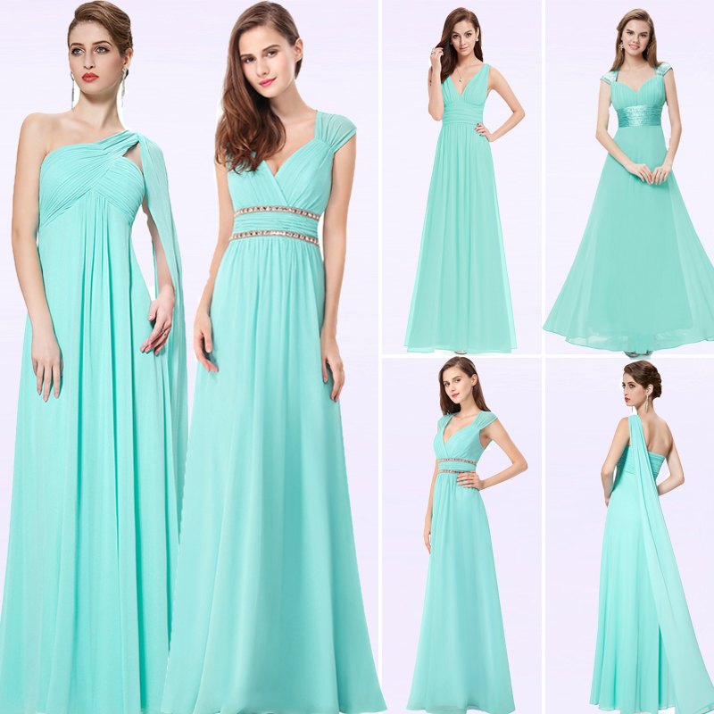 Ever Pretty New Women Sexy Formal Evening Dresses Chiffon V-Neck Sleeveless Backless Casual A-Line Evening Party Ladies Gowns