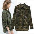 1 UNID de Mezclilla Mujeres de la Chaqueta de Camuflaje Militar Chaqueta de La Blusa de Moda Casual Jaqueta Feminina Chaquetas Mujer ZZ3494