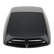 1 Pcs Universal Car Hood Decor Decorative Air Flow Intake Scoop Turbo Bonnet Vent Cover ABS Plastic 12.8*9.8*2 Inch Car Styling