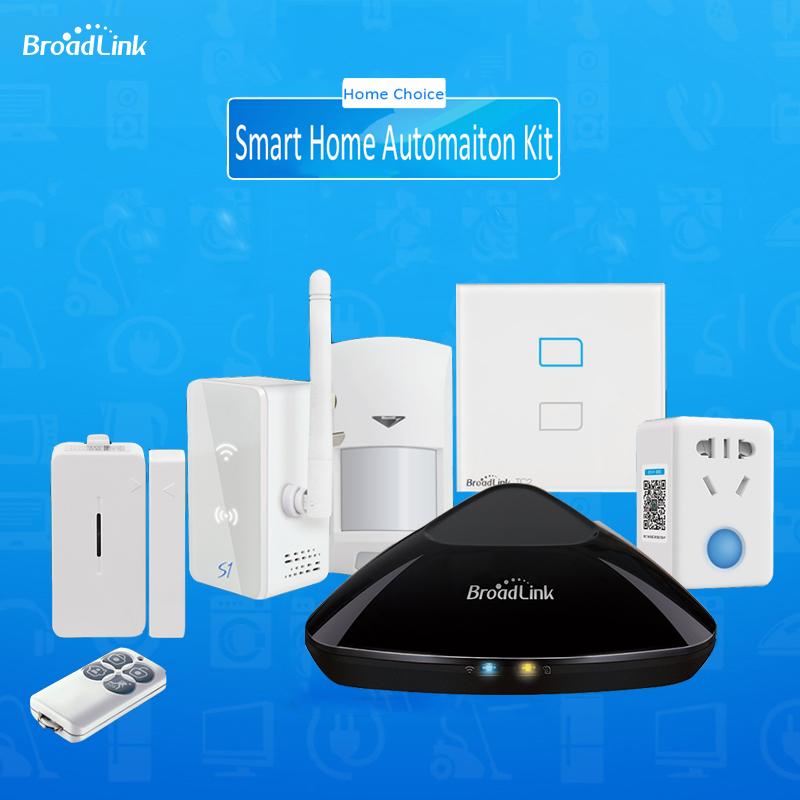 Prix pour Smart domotique Kit, Broadlink RM2 Rm Pro Universal contrôleur Intelligent, Broadlink S1/S1C, Smart Switch TC2 2 gang, SPmini3