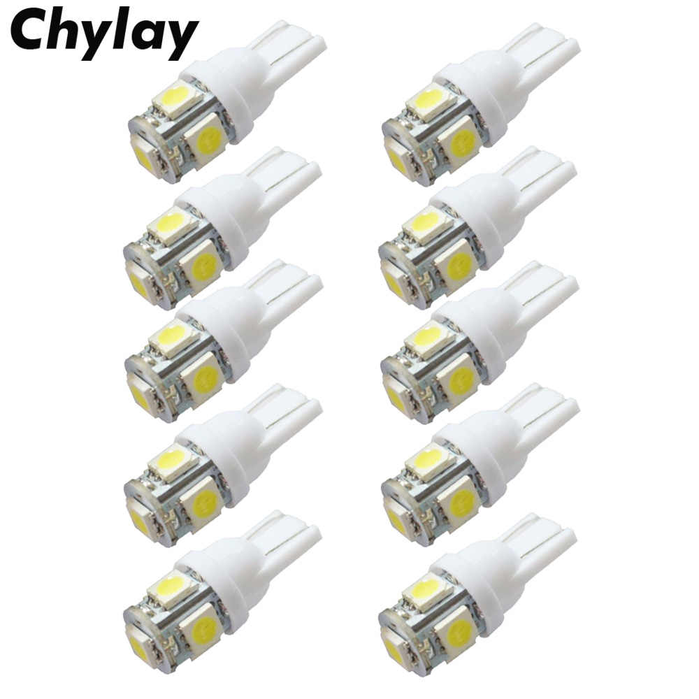 10Pcs T10 W5W Led 194 168 t10 5050 Car Led Parking Bulb Auto Wedge Clearance Lamp Super White License Plate Light