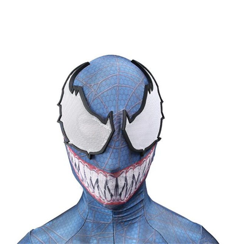 New Arrival Venom Cosplay Costume For Man Spider Man Zentai Suit Skin Tight Suits Bodysuit Halloween Adult Party Clothing