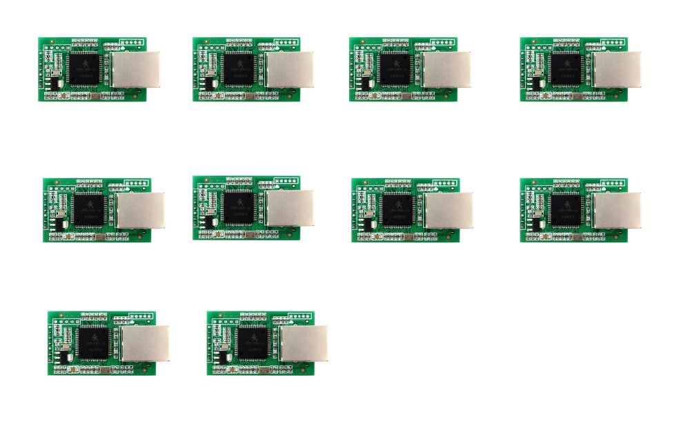 Q00226-10 10 Piece USR-TCP232-E Serial Server RS232 RS485 To Ethernet TTL Level DHCP Web Model ttl turn rs485 module 485 to serial uart level mutual conversion hardware automatic flow control