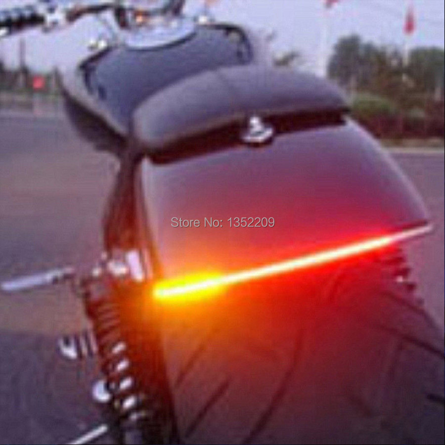Bendable LED Strip Tail Light Turn Signal Brake Indicator Fits For  Harley Motorcycle Custom