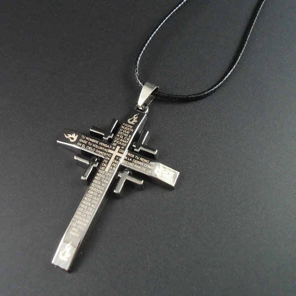 New arrival rope Pendants Bible and Cross Necklaces men jewelry men's necklace fashion necklace for women 2014