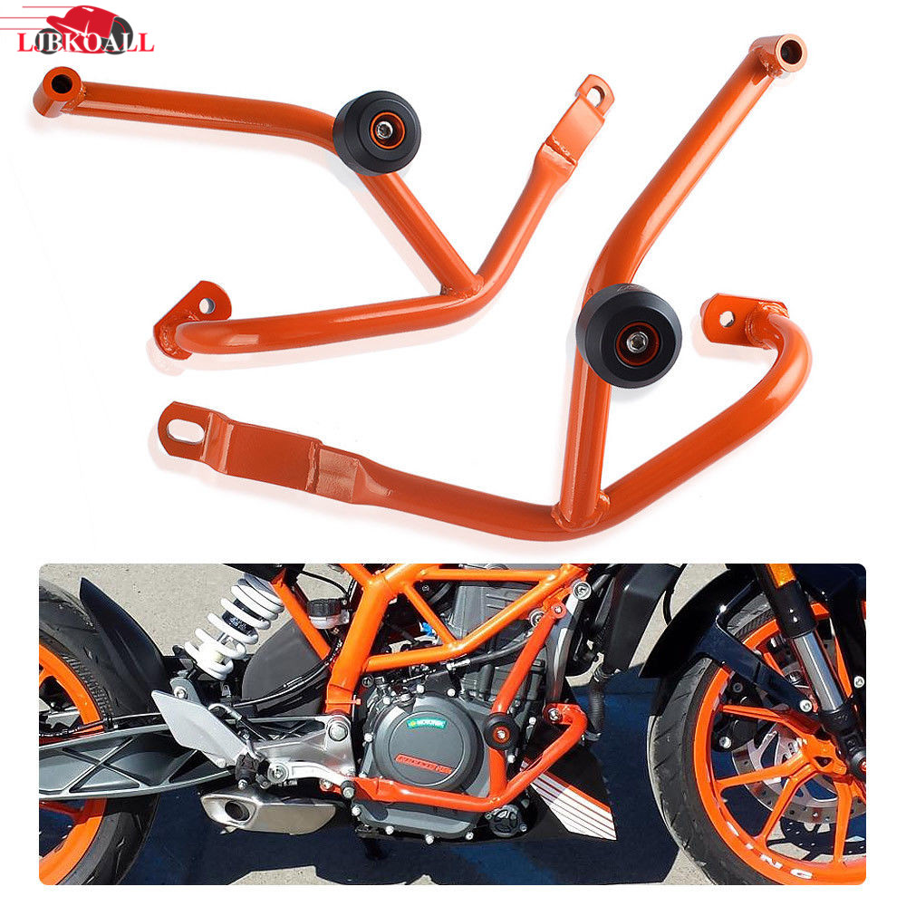 Motorcycle Crash Bars Frame Protector Protection Guard For KTM DUKE 200 Duke 125 2013 2014 2015 2016 Orange Color motorcycle engine guard crash bars frame protector bumper for ktm 125 200 duke 2011 2012 2013 2014 2015 new