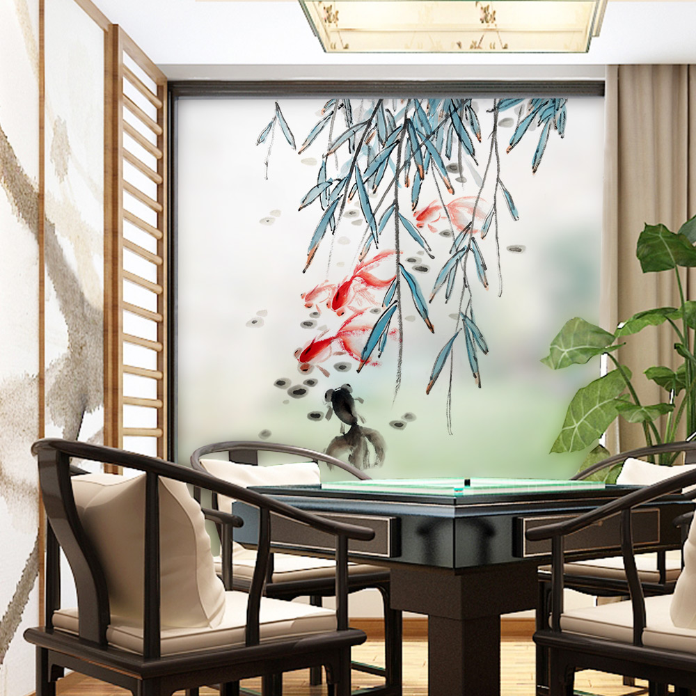 US $7 62 23% OFF|Stained Static Cling Window Film Frosted Opaque Privacy  Glass Sticker Home Decor Digital print BLT1271 Poetic Flavor-in Decorative