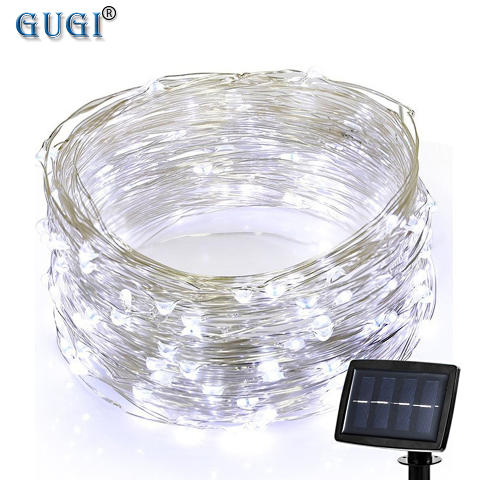 200 Leds 22m Led Strip Light Fairy Light Christmas Decoration Light Solar Powered Light Strip With Copper Wire For Garden Patio