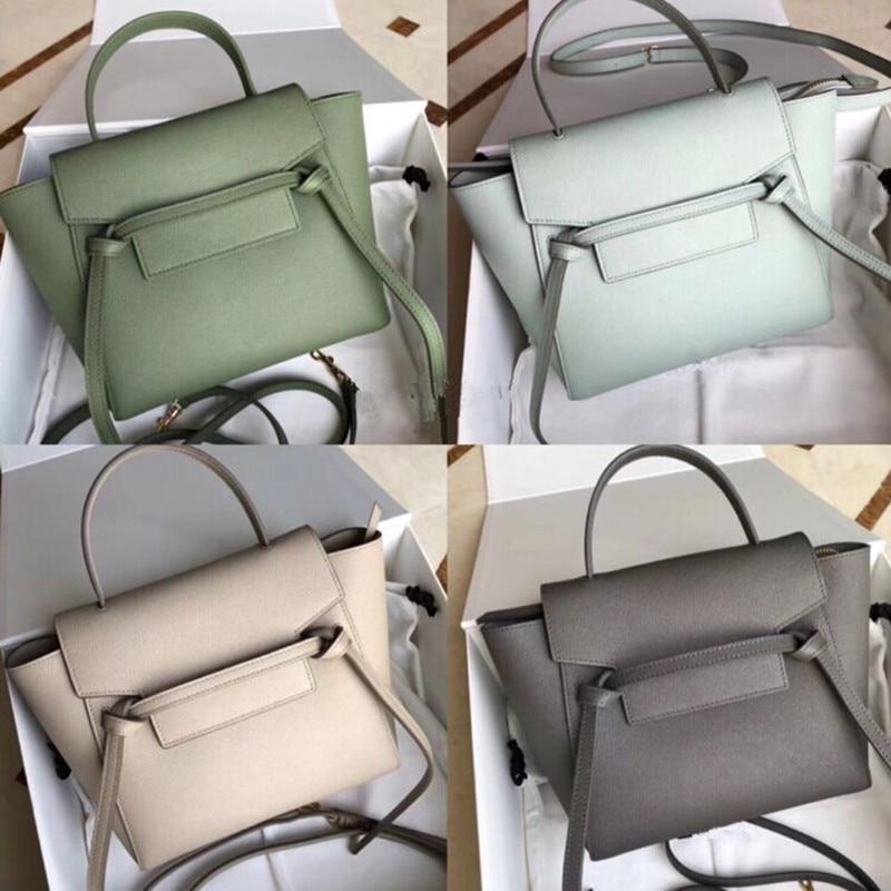 Luxury Designer Genuine Leather Handbag Luxury High Quality Trapeze Feminina Shoulder Messenger Belt Bag Calfskin Palm Print Bag