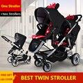 Gêmeos Do Bebê Carrinho De Criança Antes E Depois Do Duplo Carrinho de criança Dobrável Luz Easywalker Acessórios Carrinhos de Bebê Europeus