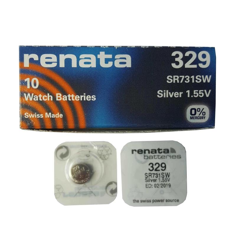 2 x Renata 357 Pila Batteria Orologio Mercury Free Silver Oxide SR44W 1.55V