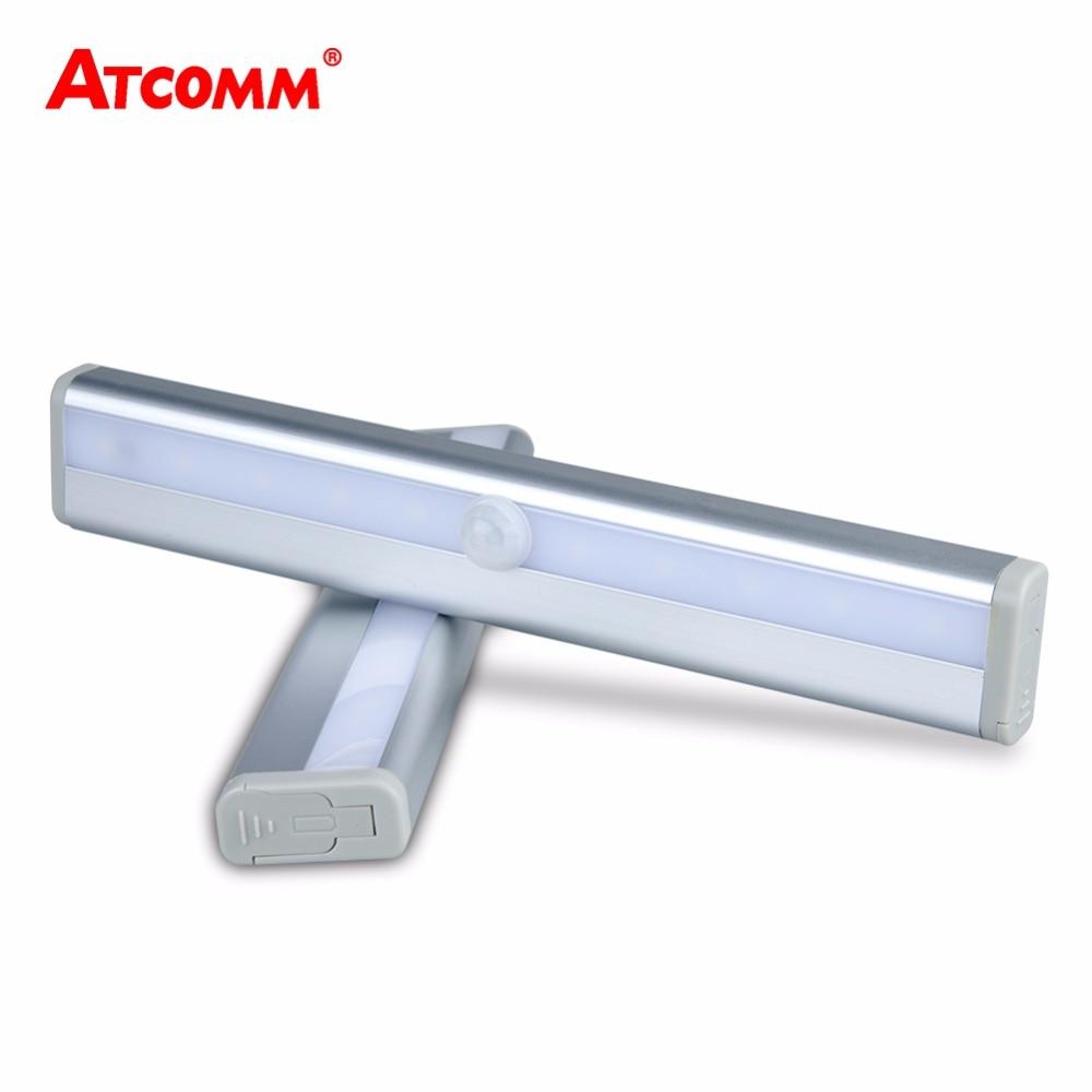 Portable Led Motion Sensor Under Cabinet Light Aaa Battery