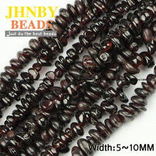JHNBY Natural Garnet Irregular Gravel beads High quality Natural Stone beads 88cm strand Jewelry accessories bracelet making DIY()
