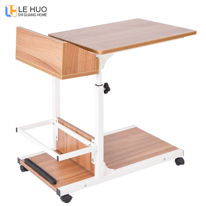 Wooden Laptop Table Mobile Computer Office Desk Living Room Adjustable Bed End Table Coffee Table Fashion Furniture