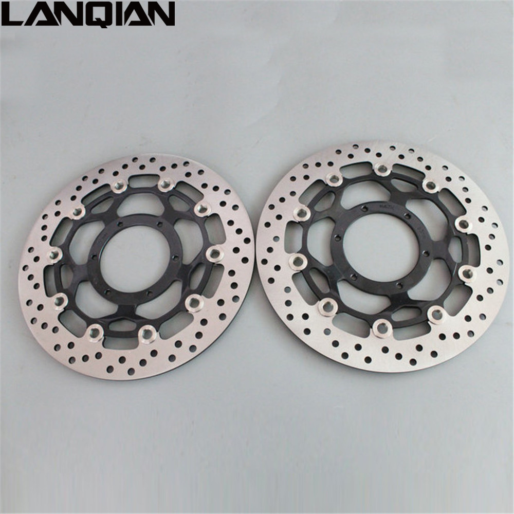 Motorcycle Front Floating Brake Disc Rotor For Honda CBR600RR 03-14 CBR1000RR 04 05 CB1300 03-09 CBR 600 600RR 1000 RR 1000RR keoghs real adelin 260mm floating brake disc high quality for yamaha scooter cygnus modify