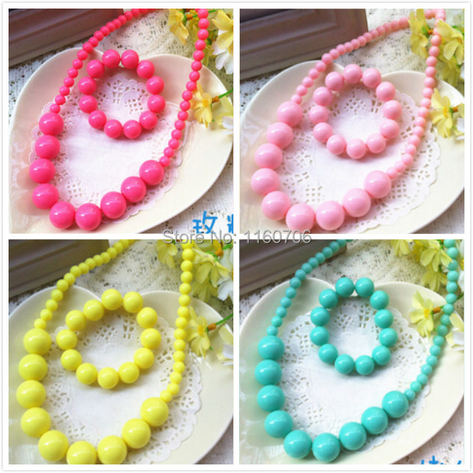 2017 newest fashion candy color pendant necklace bracelet ses