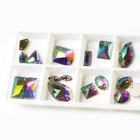 Mix Shape Crystal AB All Size Flat Back Rhinestones DIY Sew On Pearls For Handicrafts In