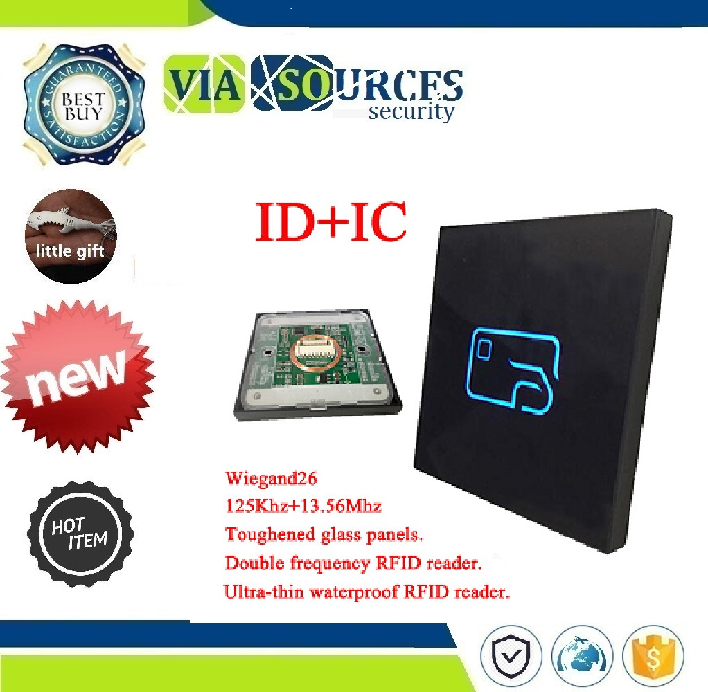 WG26/34 dual frequency access cont Ultrathin waterproof door access control system read head IC card +ID card access card readerWG26/34 dual frequency access cont Ultrathin waterproof door access control system read head IC card +ID card access card reader