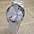Relojes Mujer Classic Nueva Moda casual relojes Vestido de las mujeres reloj de cuarzo de Mickey hollow dial cuero reloj relogio feminino